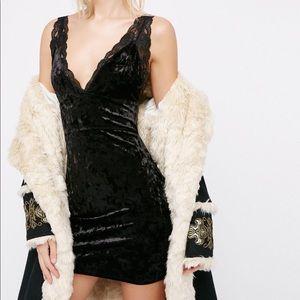 NWT Free People viper velvet bodycon dress